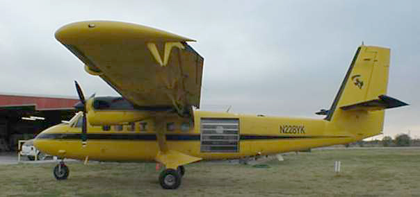 The Super Otter from Skydive Dallas.  Over 20 jumpers can fit in the Bus.