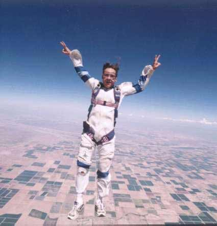 Action Jackson standing over Skydive Dallas